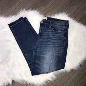 GAP Best Girlfriend Distressed Raw Hem Ankle Jeans